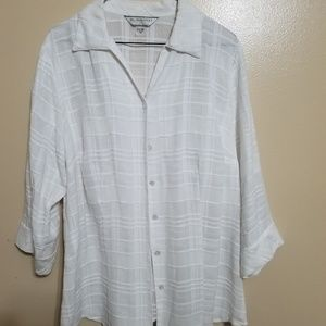 Allison Daley Sheer Button Down